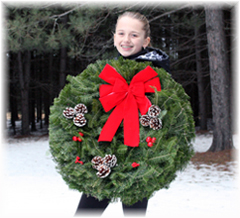 Hurry!  Last Chance to Order Fresh Balsam Christmas Wreaths!