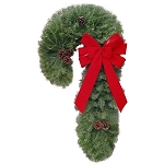 Candy Cane Christmas Wreath (36