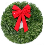 Crimson Christmas Wreath (25