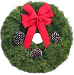 Ponderosa Pine Christmas Wreath (25