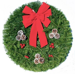 Balsam Winter Christmas Wreath (25')