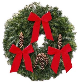 "Classic Christmas Wreath (25"")"