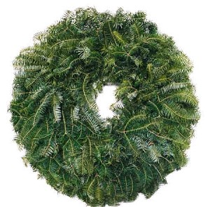 "Natural Christmas Wreath (25"")"