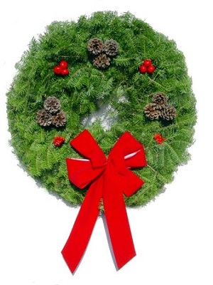 "Simple Elegance Christmas Wreath (25"") SOLD OUT"